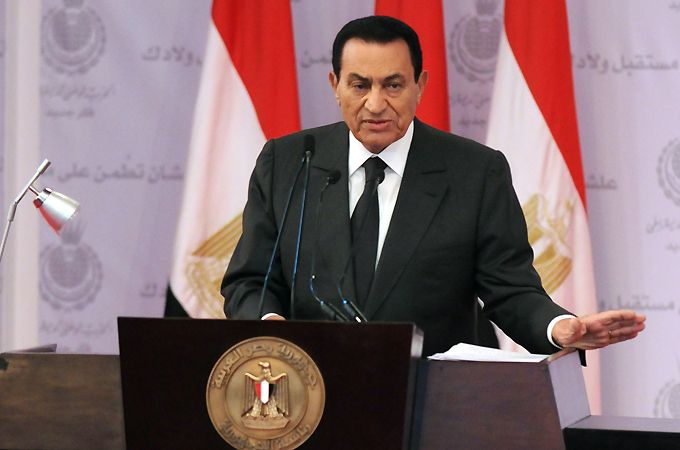 Hosni Mubarak, former Egyptian President who stepped down on February 11 2011 after an 18-day-long uprising that removed him from power