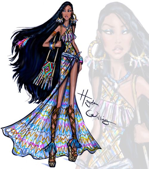 Disney Divas 'Beach Beauties' by Hayden Williams: Pocahontas
