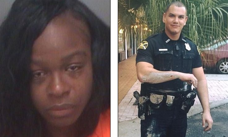 This is gross. So, so gross. She actually reached in her pants, removed the product and chucked it. He was just trying to do his job! Some people need to get a brain. A Florida woman is facing felony battery charges for pelting an ex-US Army police officer with her wet and used tampon. Tecora Fields, 28, was arrested in Saint Petersburg on Monday for 'assaulting' officer André Sousa with the feminine product. He had been trying to break up a brawl she was involved in when she screamed at him…