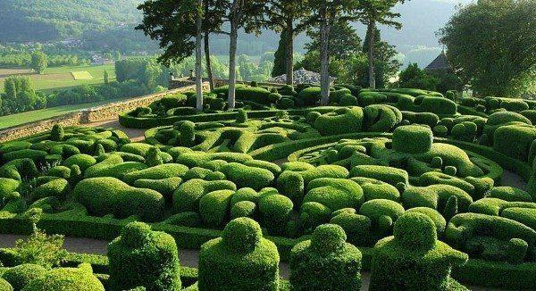 Сады Marqueyssac, Франция.