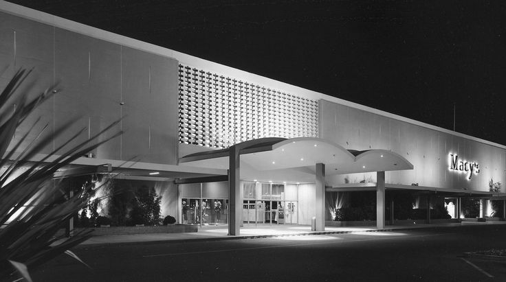 https://flic.kr/p/6Fqvgh | Macy's Valley Fair San Jose CA circa 1961 | Here's a treat for all of you Macy's fans.  An original photograph by the great Arnold Del Carlo of the Macy's department store at Valley Fair Mall in San Jose, CA.  This Macy's was designed by the architect John Savage Bolles and opened in 1956.  The building has since been modified and trust me, those modifications were NOT a visual improvement.