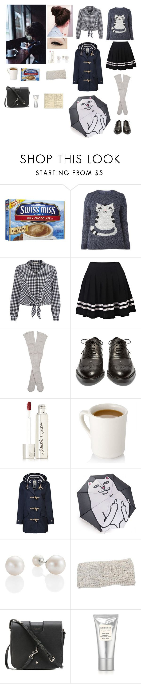 """""""Another rainy day"""" by me1ody ❤ liked on Polyvore featuring River Island, Free People, Burberry, Anatomy Of, Smith & Cult, Seasalt, NOVICA, Yves Saint Laurent, Laura Mercier and Moleskine"""