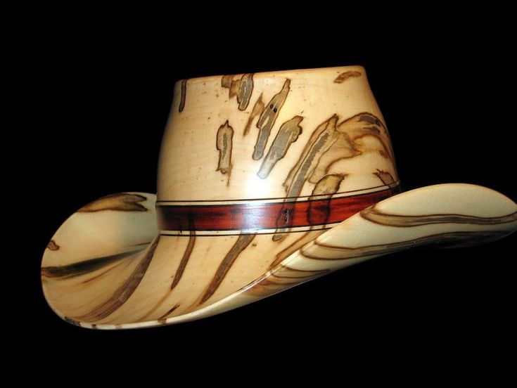 Ambrosia maple cowboy hat unknown year carved wood
