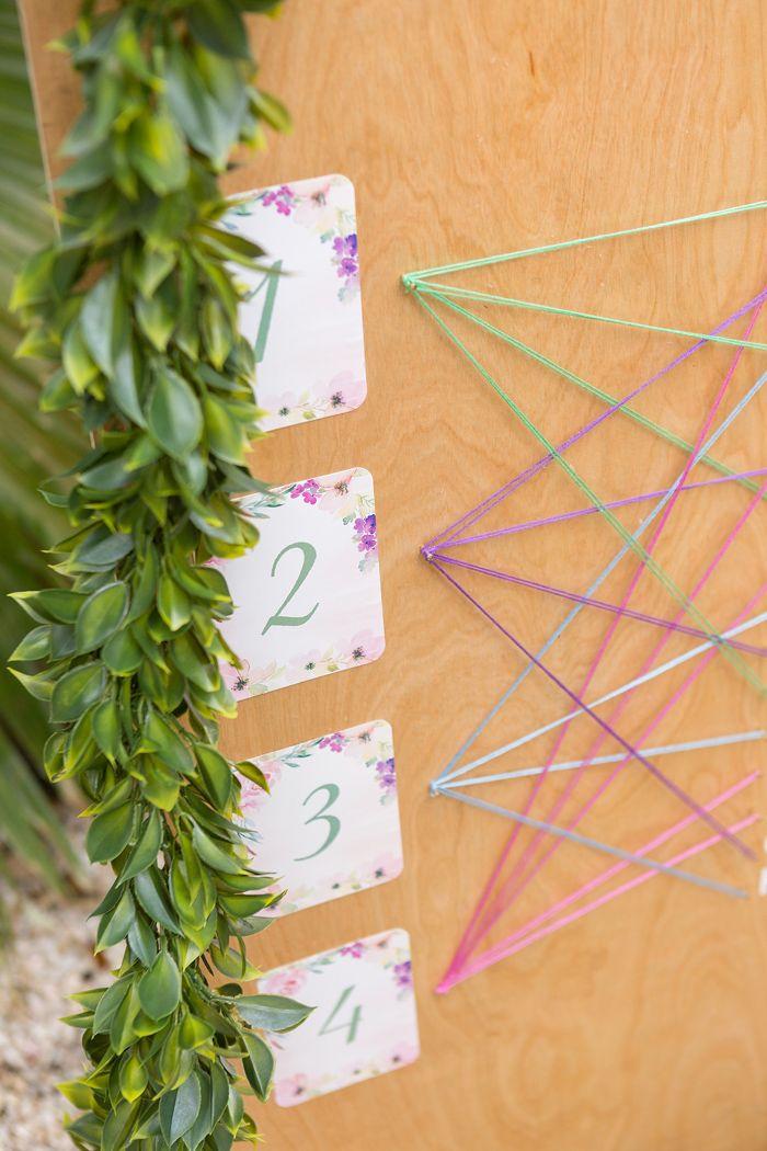DIY String Art Wedding Seating Chart