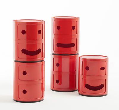 Componibili Smile N°3 Storage - / 2 draws - H 40 cm by Kartell
