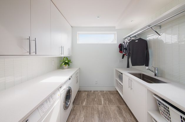 chic modern laundry room