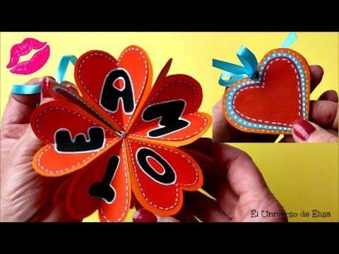 Una original y bonita Tarjeta Mini Álbum que es un SUPER REGALO para San Valentín. Tarjeta Te Amo, Tarjeta XOXO SI OS GUSTAN MIS VIDEOS, NO DUDEIS EN SUSCRIB...