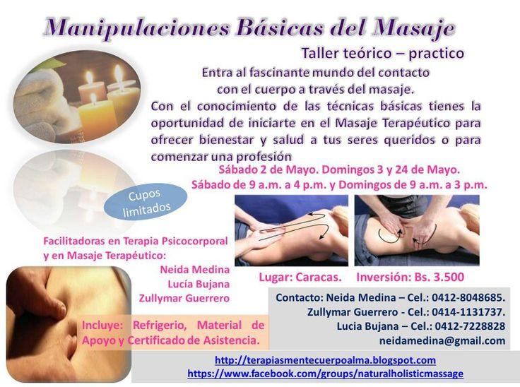 Te invito a conocer las técnicas básicas del masaje