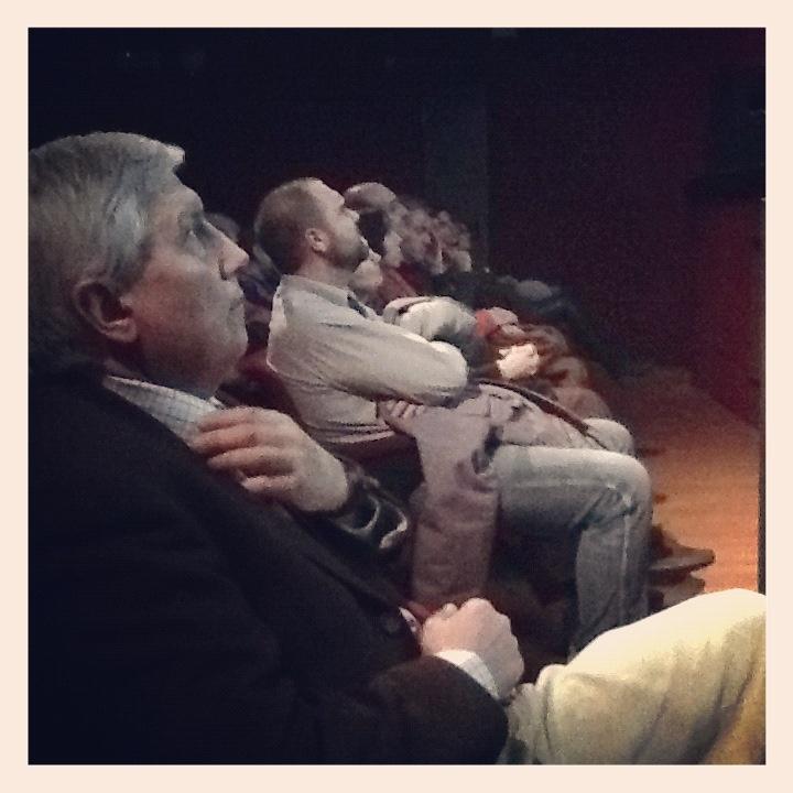 Aldo Grasso prima di salire sul palco del teatro per parlare di #cibo in #TV.