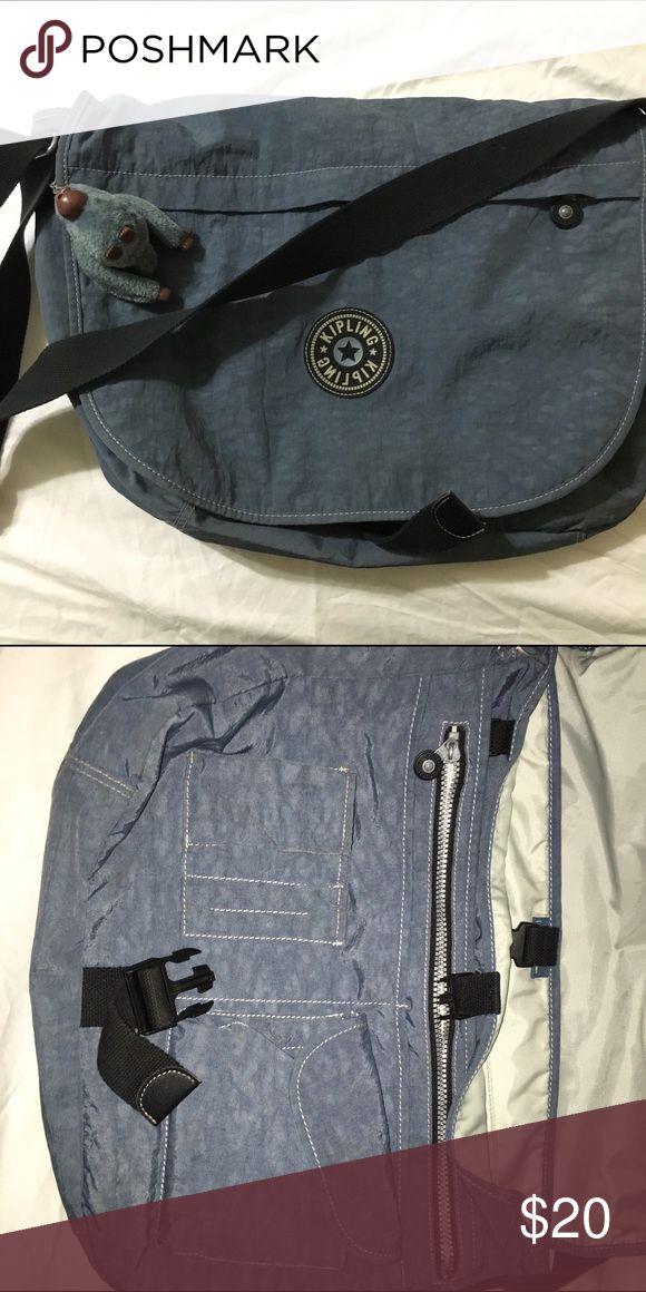 Kipling blue waterproof messenger Versatile messenger bag perfect for school, work or travel! Kipling Bags Crossbody Bags