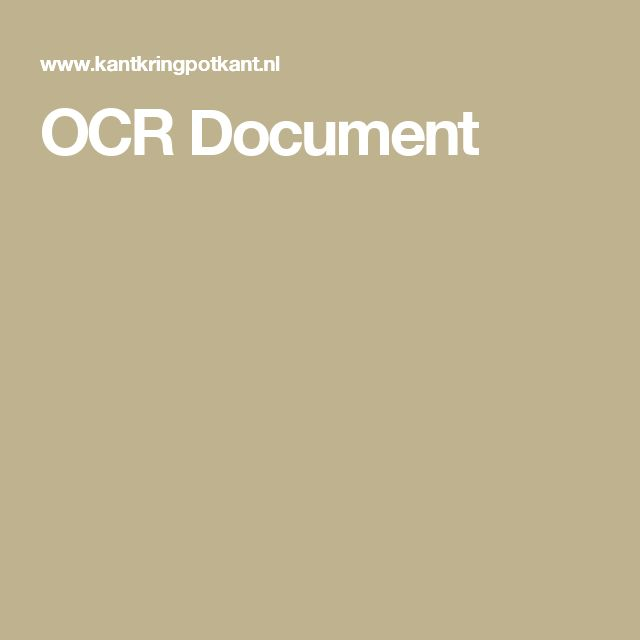 OCR Document