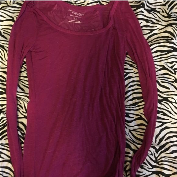 FLASH SALEAMERICAN EAGLE SHIRT This is hardy worn and adorable. It's in great condition and feel free to make an offer! American Eagle Outfitters Tops Tees - Long Sleeve