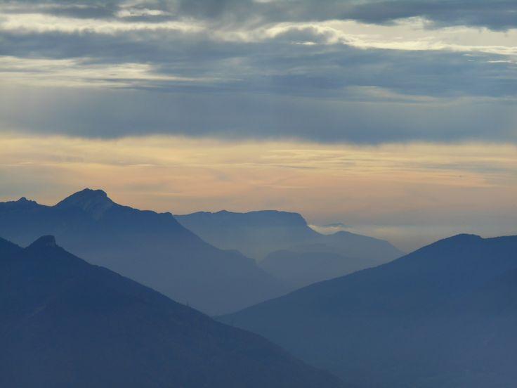 Effets de lumière sur le massif de la Chartreuse