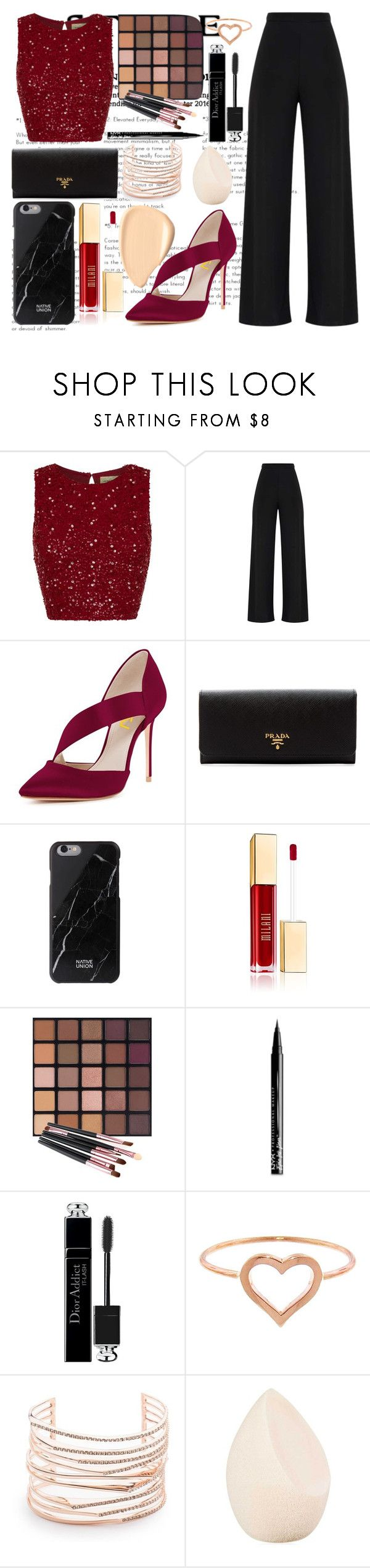 """Glam, Glam, Glam"" by magriatrix ❤ liked on Polyvore featuring Prada, NYX, Christian Dior, Jennifer Meyer Jewelry and Alexis Bittar"