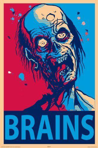 NMR 24969 Zombie Brains Decorative Poster by NMR, http://www.amazon.com/dp/B003YCIVS4/ref=cm_sw_r_pi_dp_BPYYqb13WVPAP #mike1242