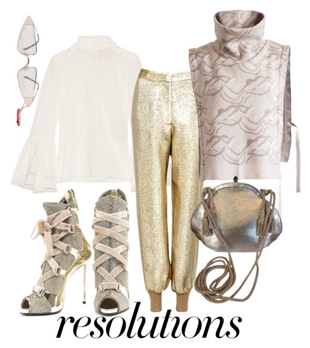 """resolution"" by constantinerenakossy on Polyvore featuring Giuseppe Zanotti, Fendi, STELLA McCARTNEY and Judith Leiber"