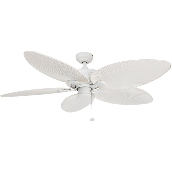 52 honeywell palm island white ceiling fan with palm blades