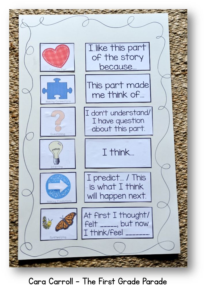 Reader's workshop thinking stickies...FREE printable!
