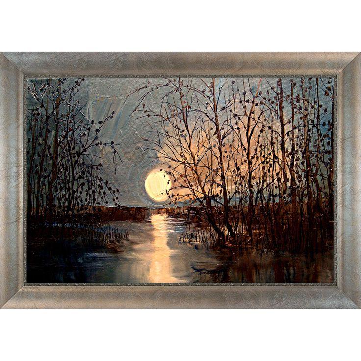 justyna kopania moon framed canvas print by artistbe