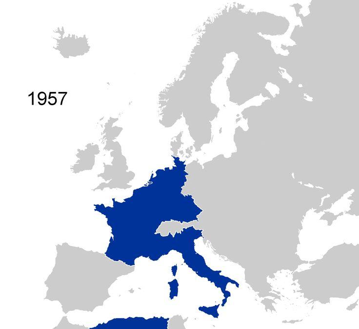 Rezultat iskanja slik za european union map 1957