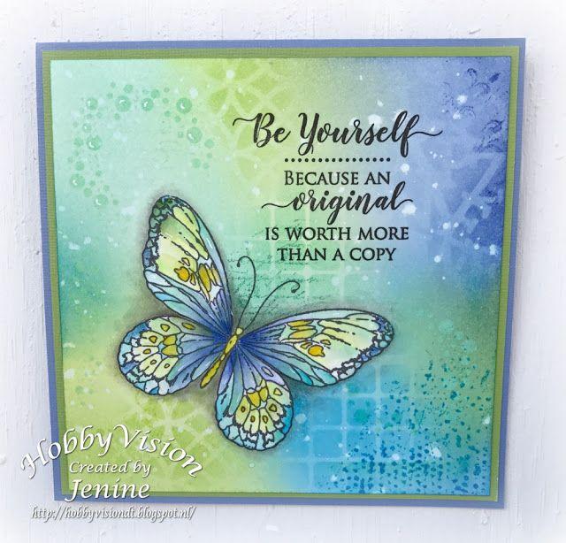Jenine's Card Ideas: Be Yourself....