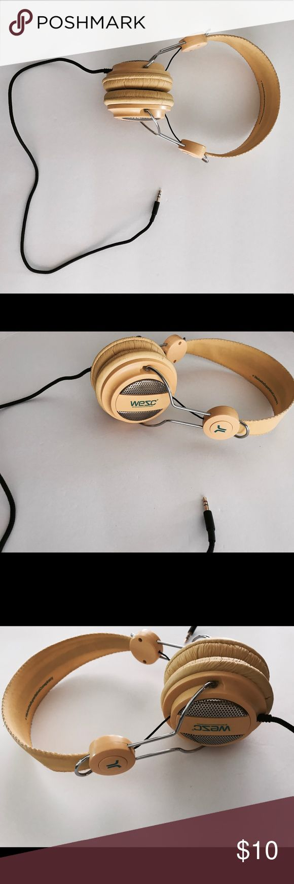 Wesc headphones Yellow wesc headphones with extender cord. Wesc Other