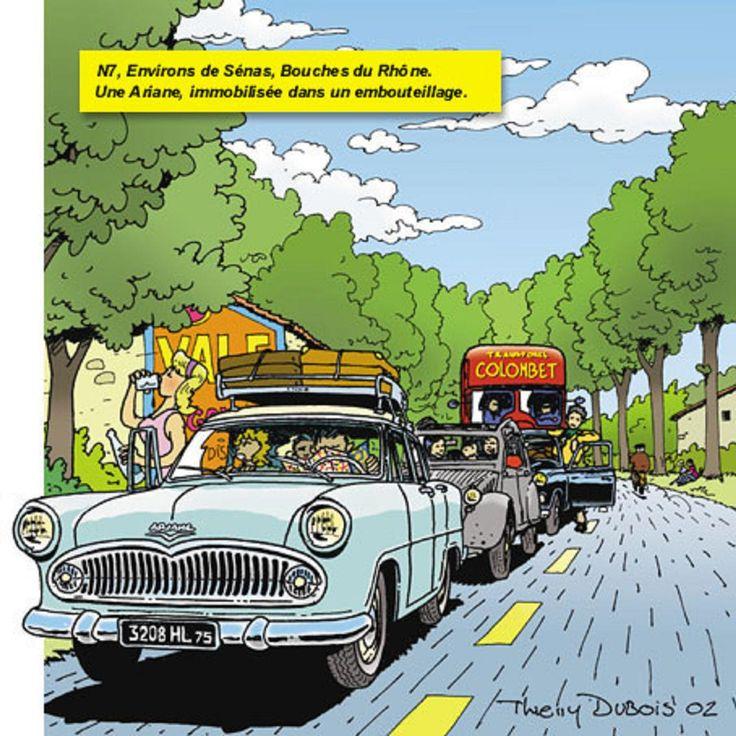 Simca Ariane, bouchon dans le Var