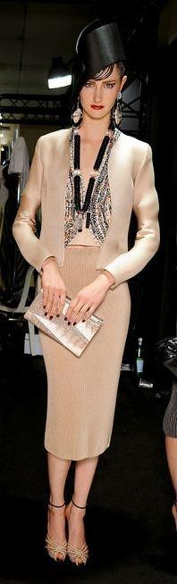 Backstage: Armani Privé Haute Couture Fashion Show Spring 2013, Paris