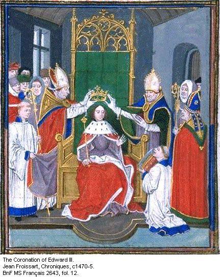Coronation of Edward III, c1470-5.