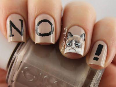 Grumpy Cat Nails. So great!