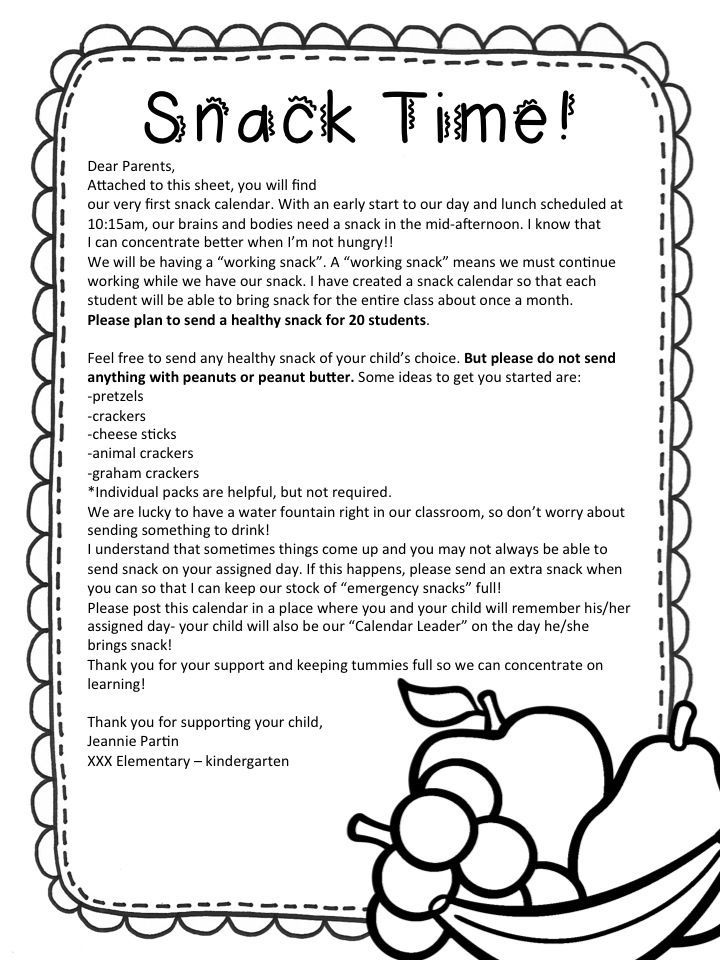 10 best snack images on Pinterest Classroom decor, Classroom - thank you note to parents