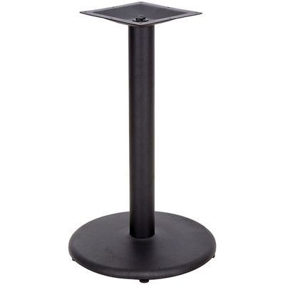 """Flash Furniture Round Restaurant Table Base with Table Height Column Size: 18"""""""