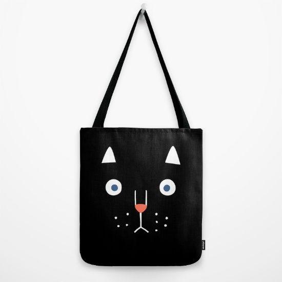 cat tote bag | borsa illustrata | borsa gatto