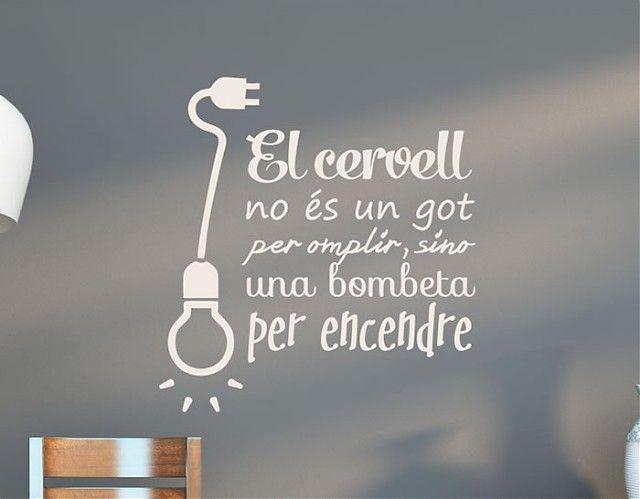 . Vinilos Frases y Textos El cervell 03575