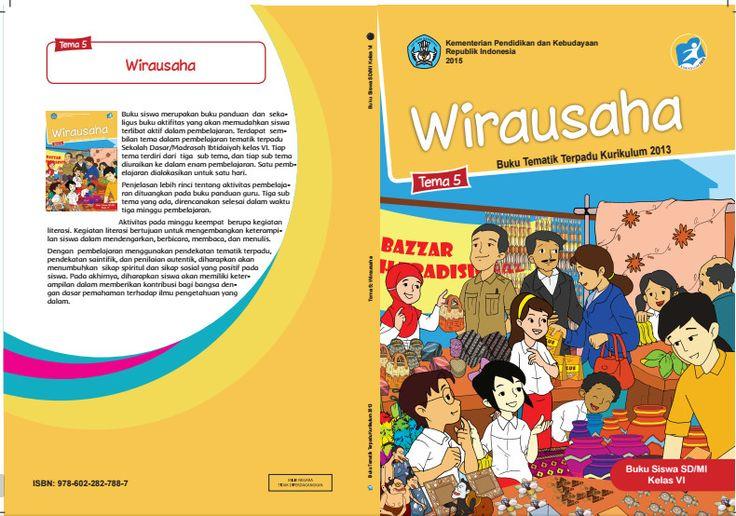 Edisi Revisi Buku Tematik Kurikulum 2013 SD/MI Kelas 6 Tema 5 Wirausaha Format PDF