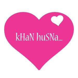 KHaN huSNa... LOGO * Create Custom KHaN huSNa... logo * Love Heart STYLE *