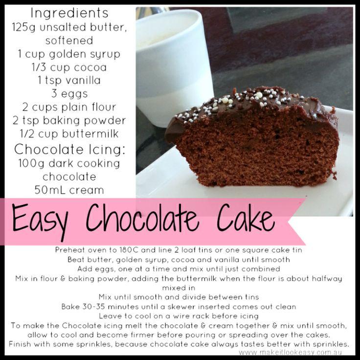Easy Chocolate Cake  #chocolatecake #cake #lunchboxideas