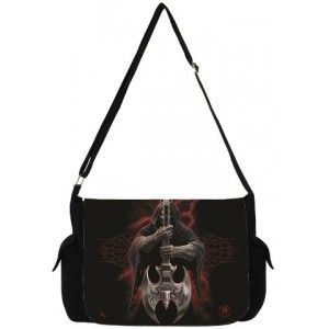 Rock God Grim Reaper Messenger Bag by Anne Stokes - New at GothicPlus.com - your source for gothic clothing jewelry shoes boots and home decor.  #gothic #fashion #steampunk