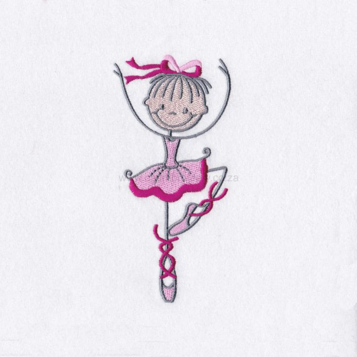 Stick Figure Ballerina No3