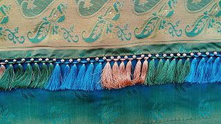 Kayal Tassel(Kuchu) Works: Rose beads with long tassels