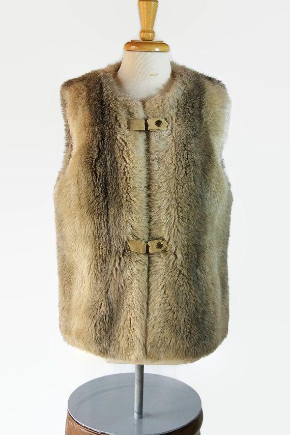 Country Pacer Faux Fur Vest Fall Fashion Hippie by PetticoatsPlus