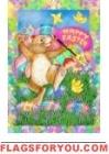 Painting Bunny Garden Flag