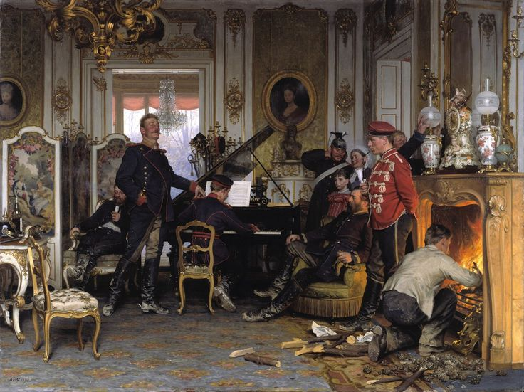 File:Anton von Werner - Im Etappenquartier vor Paris - Google Art Project.jpg - Wikimedia Commons