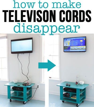 Hide those ugly media center cords. This DIY tutorial shows us beginners how!