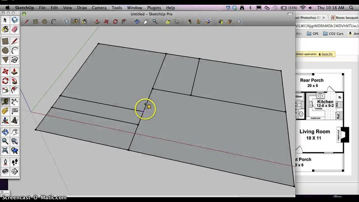 how to make a simple house in sketchup
