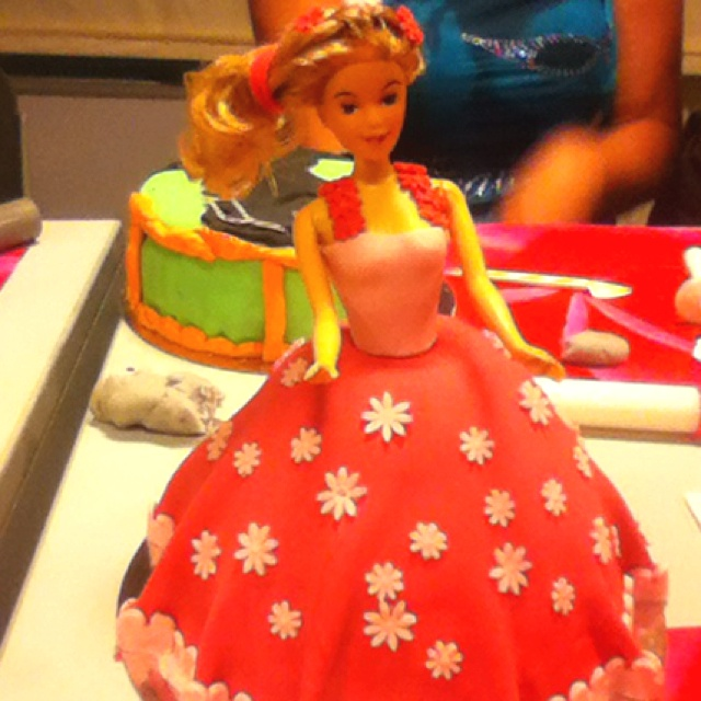 Barbie taart!