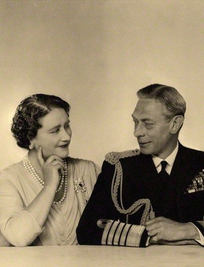 King George VI and Queen Elizabeth - I love this photo! They are just so in love with each other!
