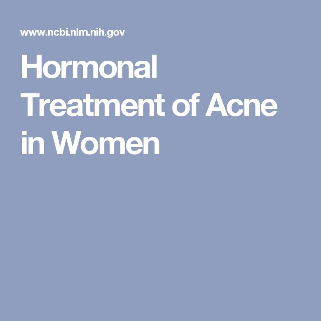 Hormonal Treatment of Acne in Women