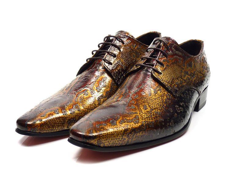 Scarpe Pazzo 10061 veter schoenen - bruin / combi