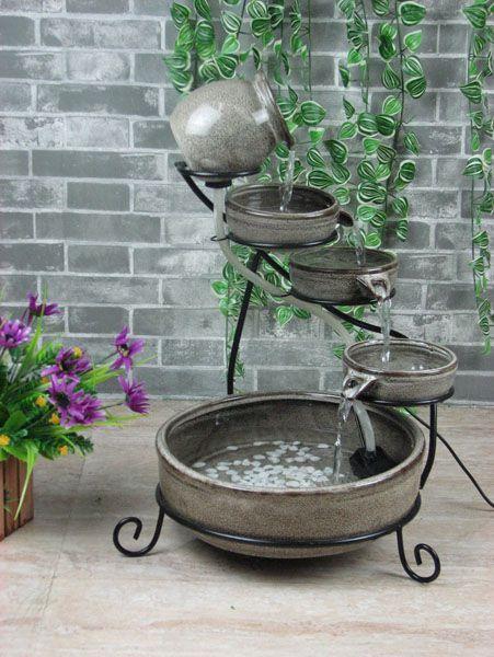 Slate Grey Cascade Solar Fountain 99 95 Outdoor Living